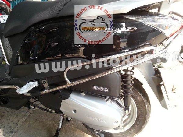 Khung inox xe lead 125