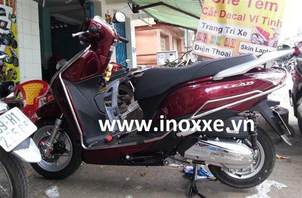Khung inox xe lead 125-02