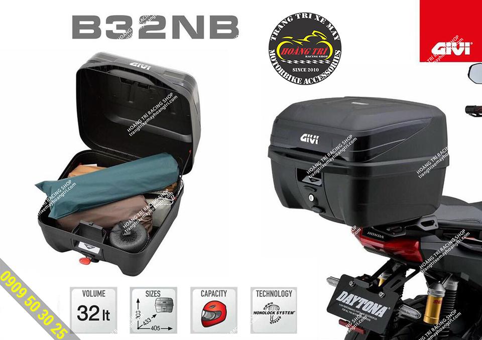 Thông số kỹ thuật của thùng sau givi chính hãng B32NB