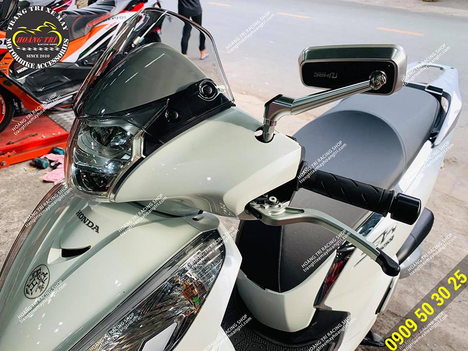 Kính hậu H2C - Kiếng chiếu xe máy hậu đẹp cho xe SH 2020
