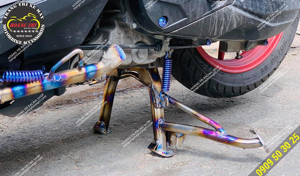 Combo sản phẩm đã được gắn trên xe