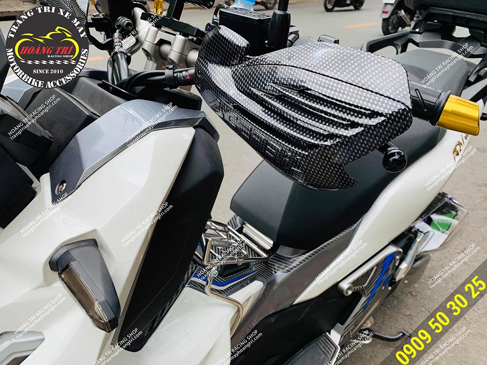 Bảo vệ tay lái Acerbis Carbon Diamond (bên trái)