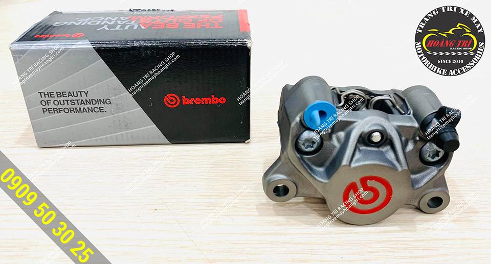 Cận cảnh heo dầu Brembo 2 piston đối xứng logo đỏ chính hãng