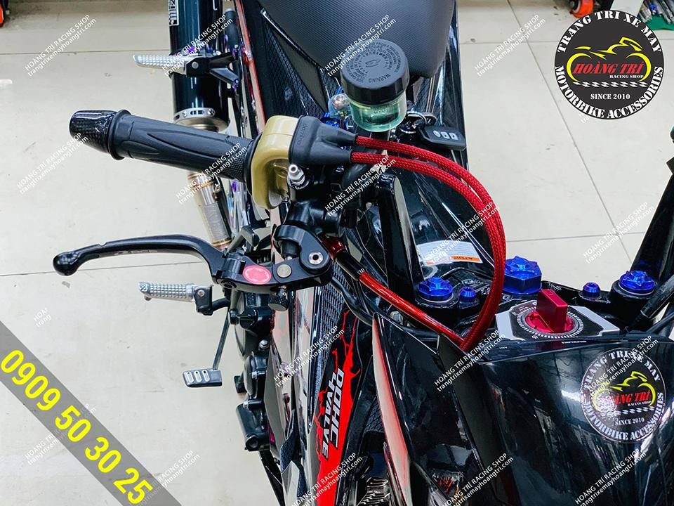 Tay thắng dầu Racing Boy S1 hàng chính hãng lắp trên Satria