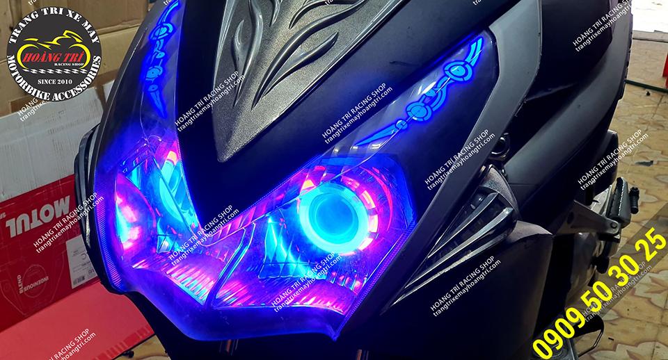 Đèn mắt cú kết hợp led audi Airblade thay đổi phong cách cho xế cưng