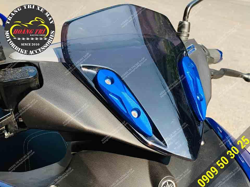 Nẹp ninja trang trí chắn gió xe máy màu xanh dương