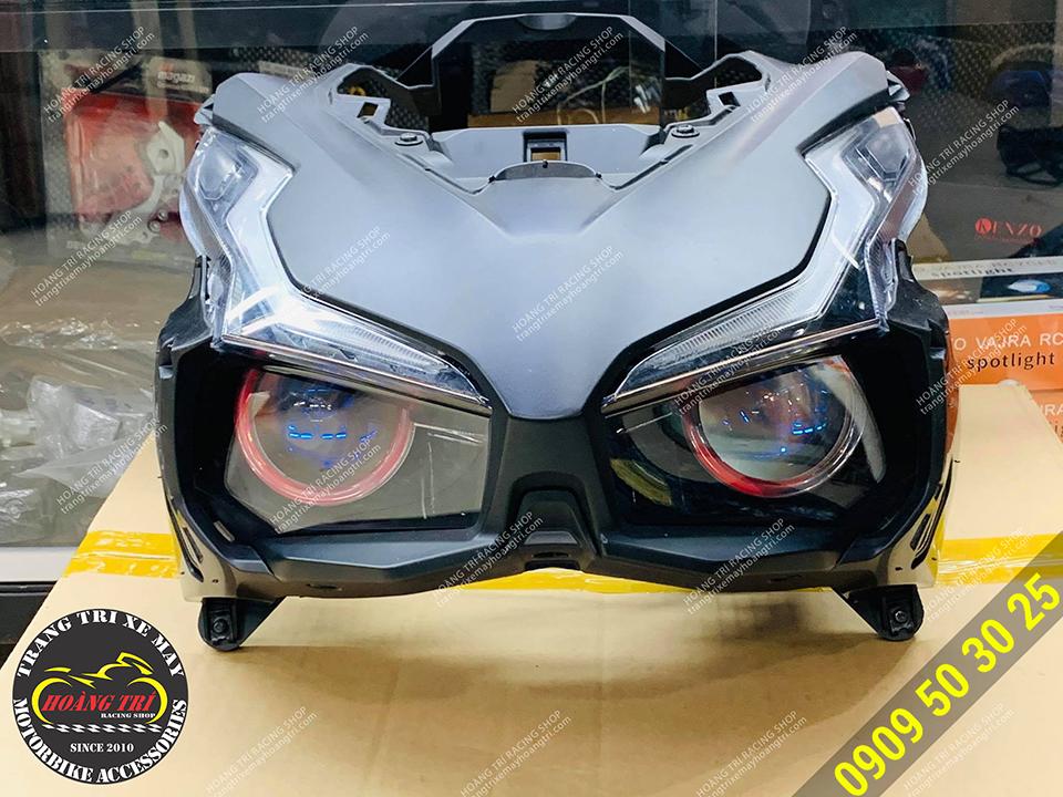Cụm đèn pha Airblade 2020 sau khi được trang bị bi LED HTR-1220
