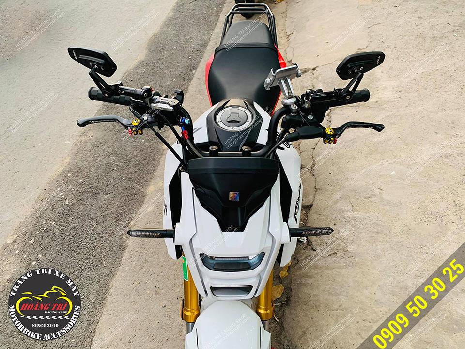 Honda MSX thay xi nhan trước thành xi nhan Spirit Beast L27