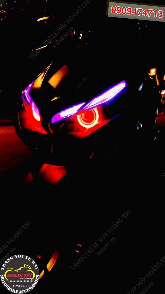 Vòng bi LED màu đỏ tạo nên cái hồn cho xế cưng