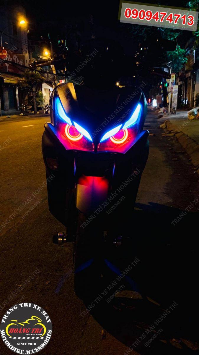 Nhiều anh em còn gọi độ bi cầu LED HTR-520 là độ đèn mắt cú NVX 2021