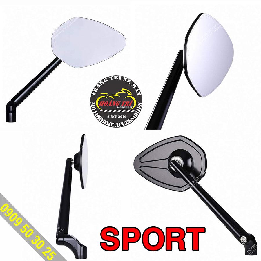 Gương Sport có  nhiều góc cạnh mang đậm chất thể thao