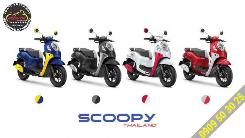 4 màu sắc bạn có thể lựa chọn của xe Scoopy Club 2021