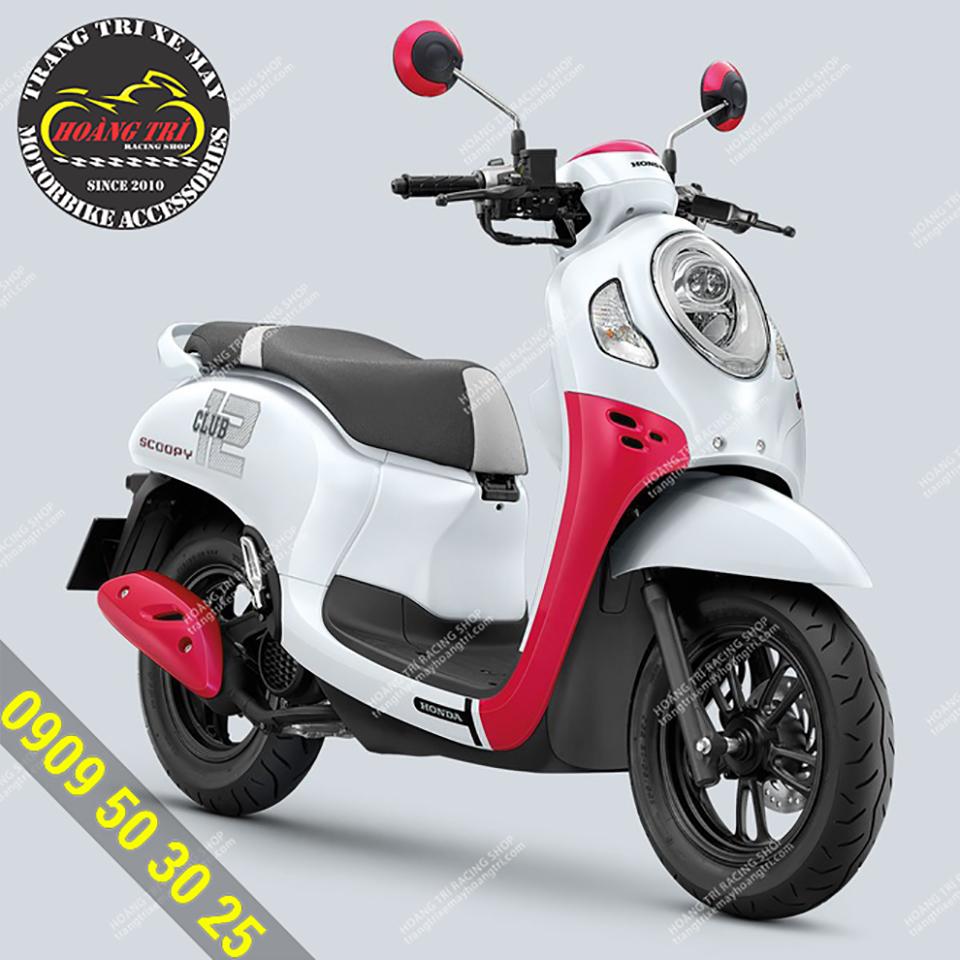 Diện mạo của Honda Scoopy Club 2021 màu trắng