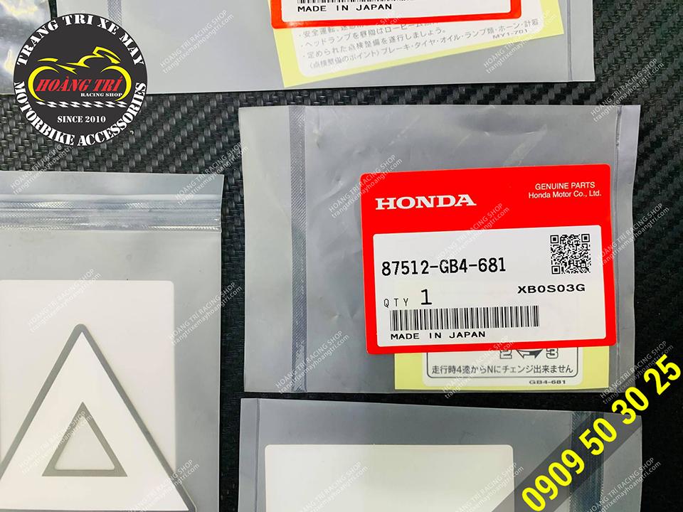 Mỗi mẫu tem được đóng gói riêng biệt