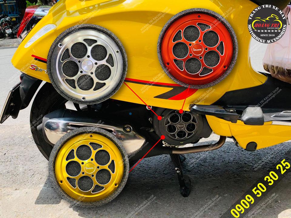 Ốp quạt gió V-Refit không xoay trang trí xe Vespa Primavera, Vespa Sprint có 4 màu sắc