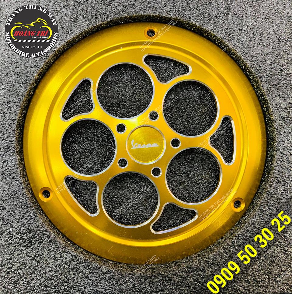 Ốp quạt gió V-Refit không xoay trang trí xe Vespa Primavera, Vespa Sprint (màu vàng)