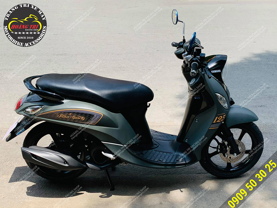 Toàn cảnh chiếc Yamaha Fino Sporty sau khi độ kiểng tại shop