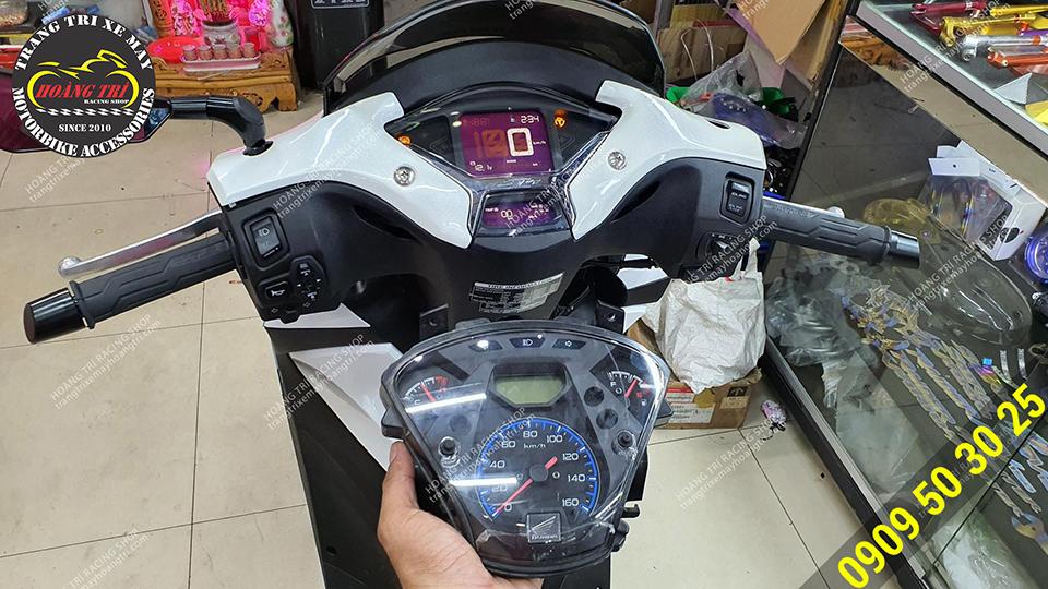 Hoàn thiện bản độ nâng cấp đồng hồ SH 2020 cho SH 2012