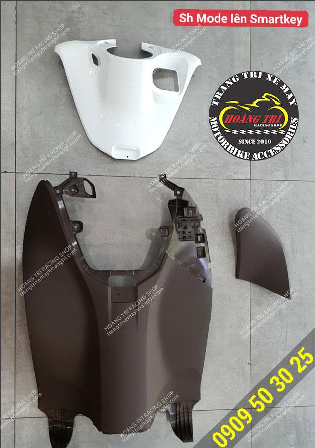 bộ 3 món dành cho xe SH Mode màu trắng để độ khóa smartkey