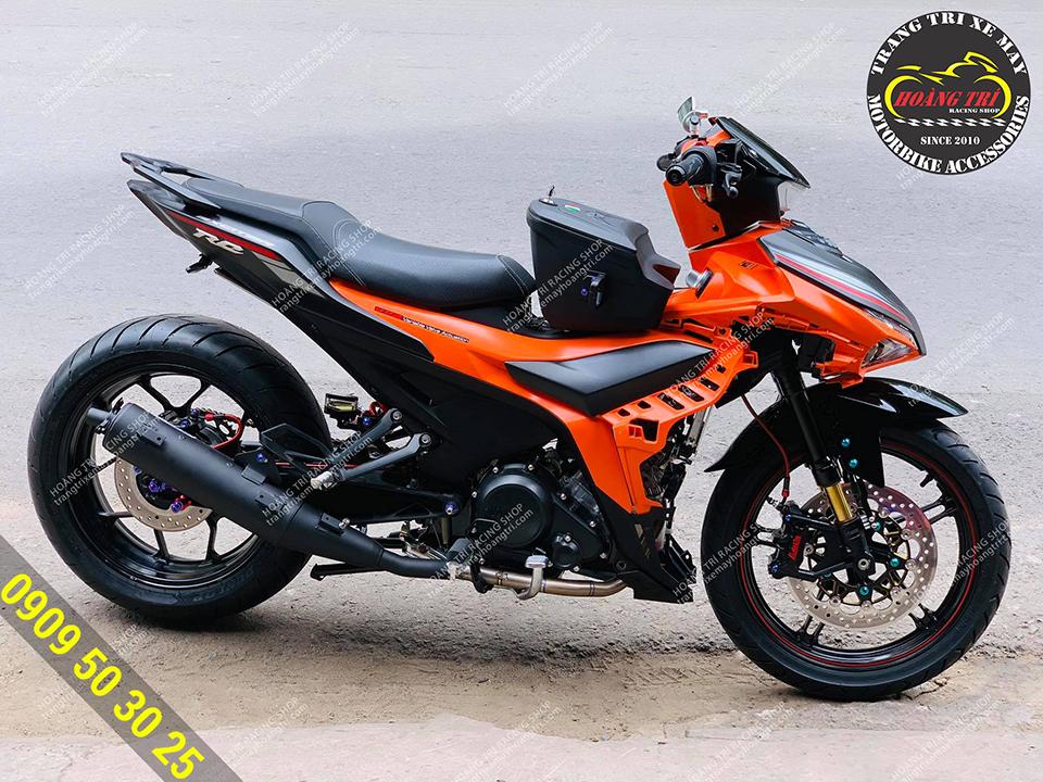 Pô Uma Racing V3 - giả zin Exciter 155 với cổ pô titan