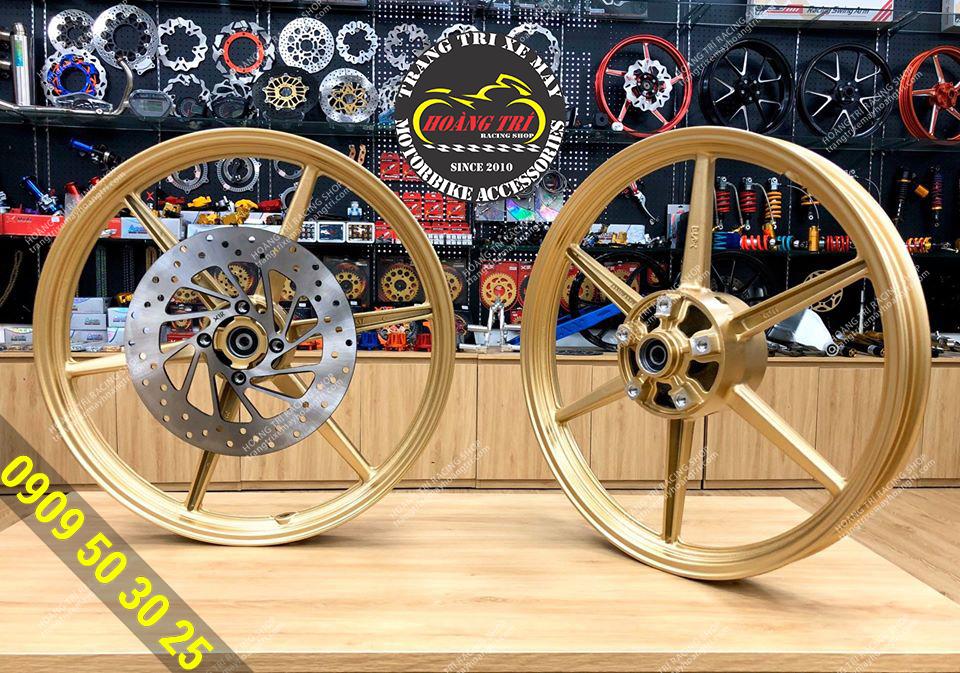 Mâm 6 cây X1R gắn Exciter 150, Exciter 155 size 1.6 x 1.6 (Màu vàng)