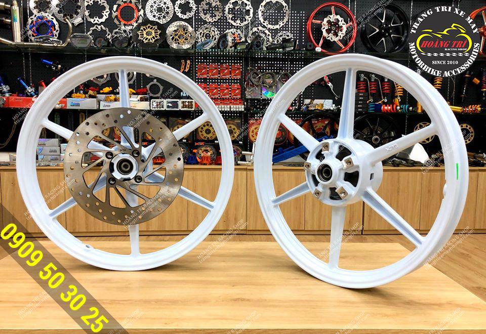 Mâm 6 cây X1R gắn Exciter 150, Exciter 155 size 1.6 x 1.6 (Màu trắng)