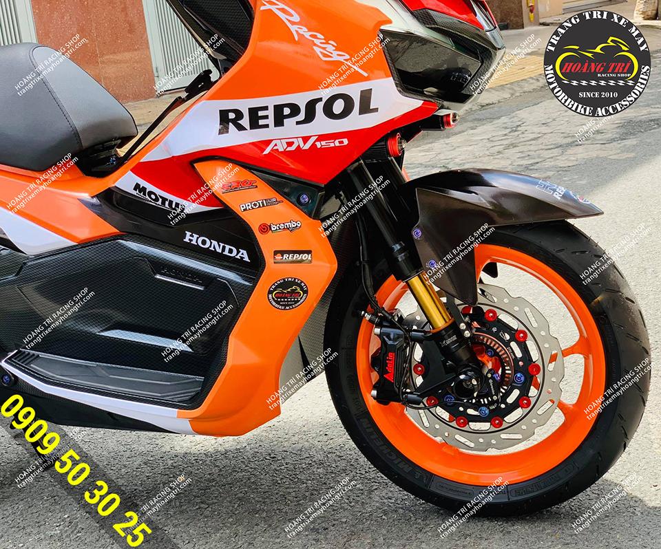 Mẫu tem Repsol ADV 150 theo phong cách Racing