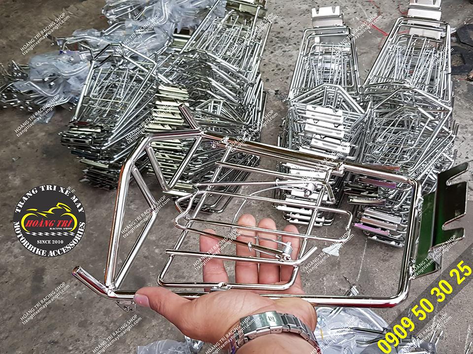 Trên tay baga inox ADV 150 - Baga inox 10 ly