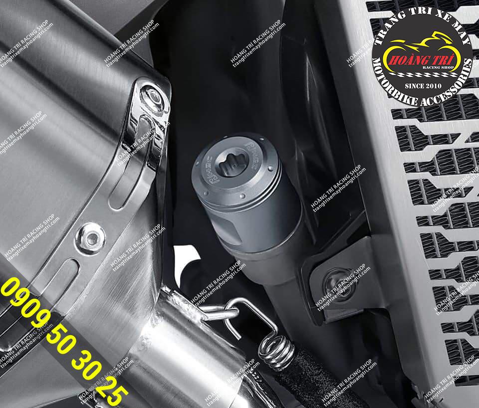 Cận cảnh chi tiết sản phẩm sau khi lắp đặt trên xe ADV 150