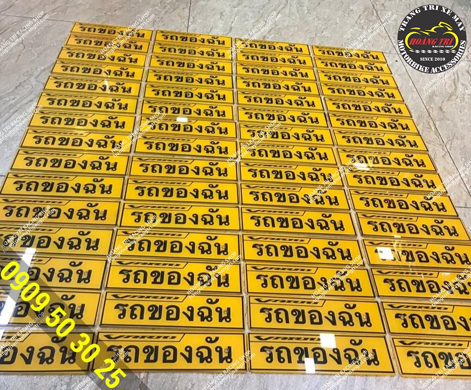 Hoàng Trí Racing Shop nhập rất nhiều bảng tên xe Vario