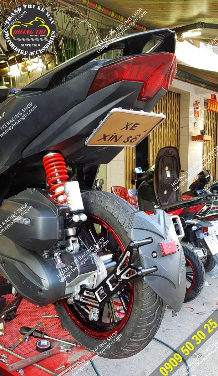 Cặp đôi combo biển số đút gầm và chắn bùn Moto Racing