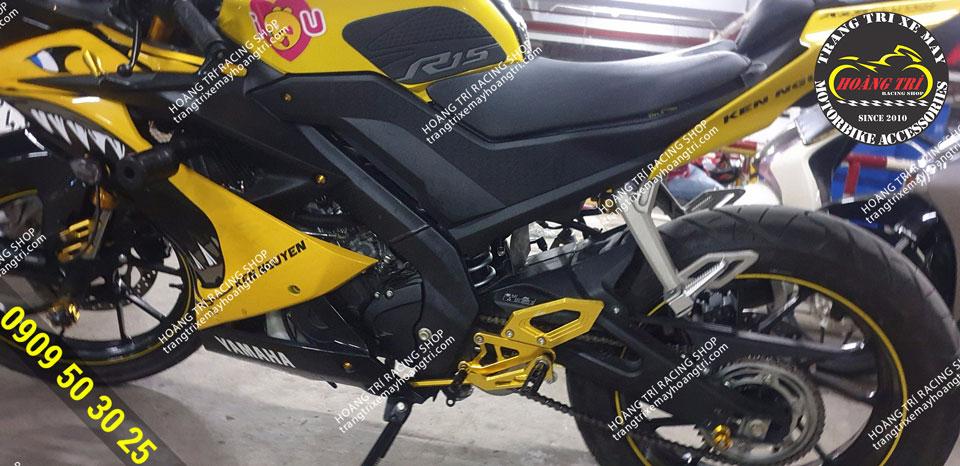 Bộ số gãy đơn Yamaha R15 V3 đã được lắp lên xe