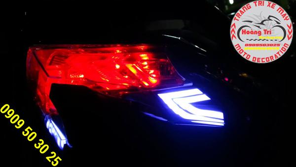 Đèn led audi sau với đèn signal và đèn stop