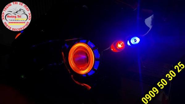 Một bên đèn mắt cú Airblade 2016 đã được gắn trên xe