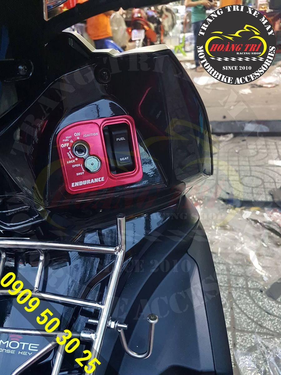 Ốp ổ khóa Endurance đã được lắp lên xe