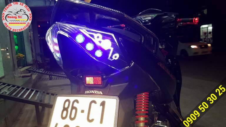 Led audi với 8 đèn Oblock cực sáng