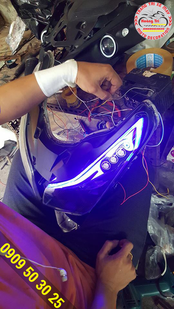 Test đèn led audi airblade 2015
