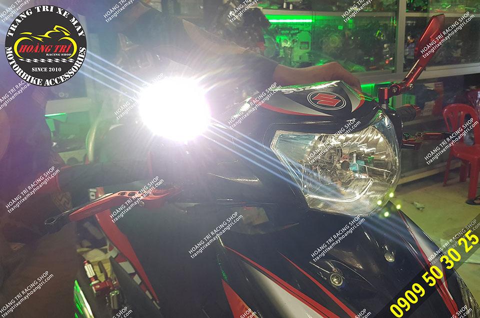 Test ánh sáng của đèn L4X F sau khi độ lên Axelo