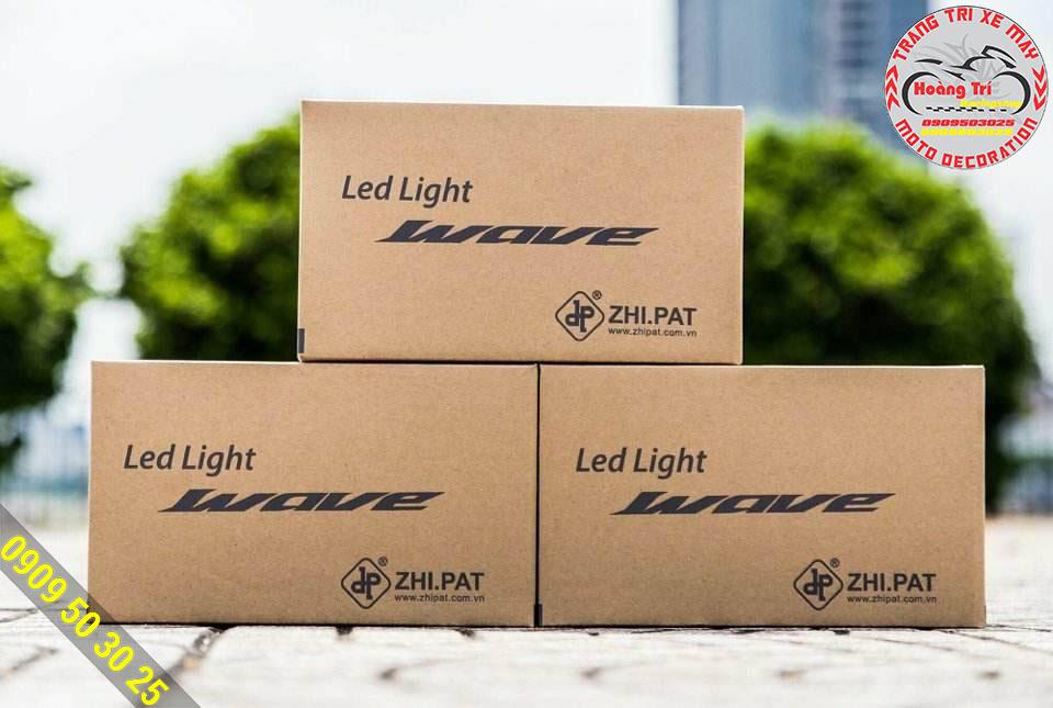 Full box đèn led 2 tầng gắn cho các dòng xe Wave và Future