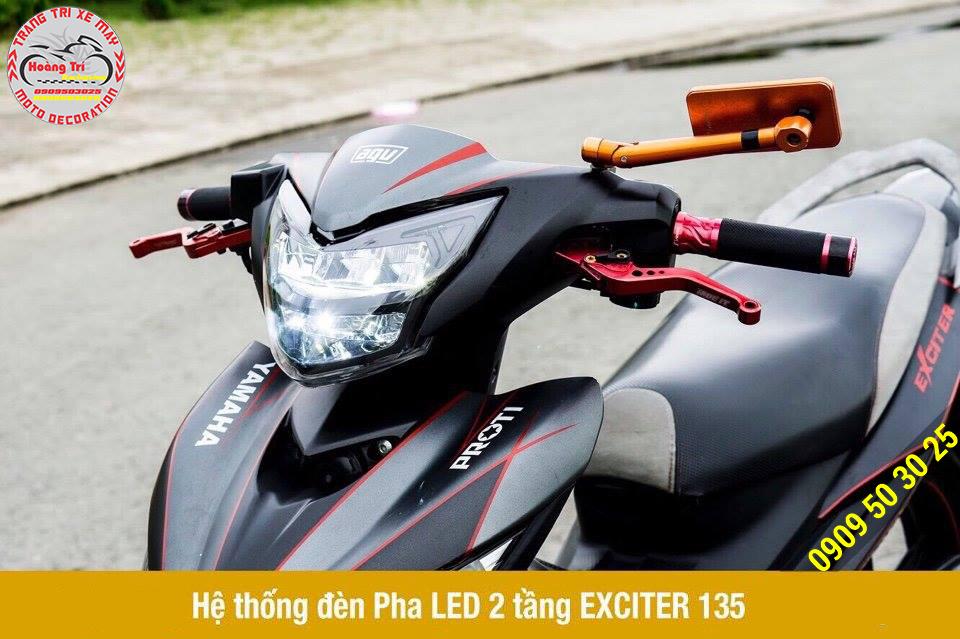 Sản phẩm đèn led 2 tầng đẳng cấp cùng một số phụ kiện đồ chơi kiểng Exciter 135