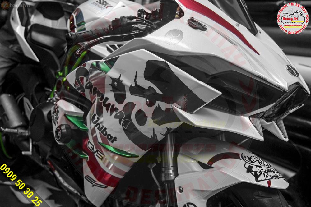 Độ cánh gió khí động học để có thể giống với xế yêu Kawasaki H2