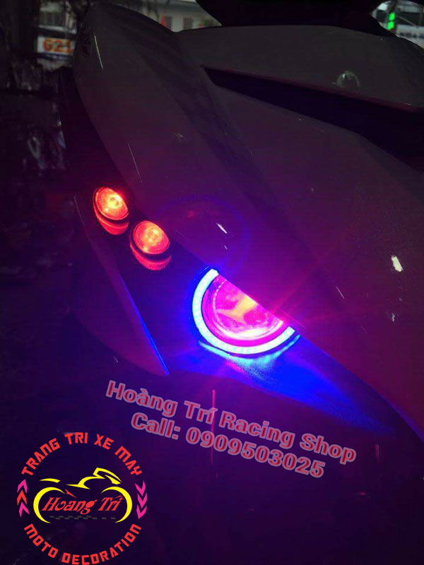 Đèn mắt cú ex 150 mẫu 2016 2