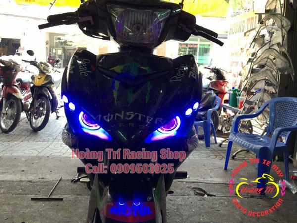 Đèn mắt cú ex 150 mẫu 2016 3