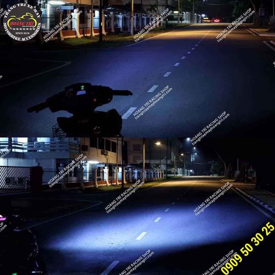 Test ánh sáng xế cưng sau khi lắp đặt đèn LED 2 tầng - Sporty 2019