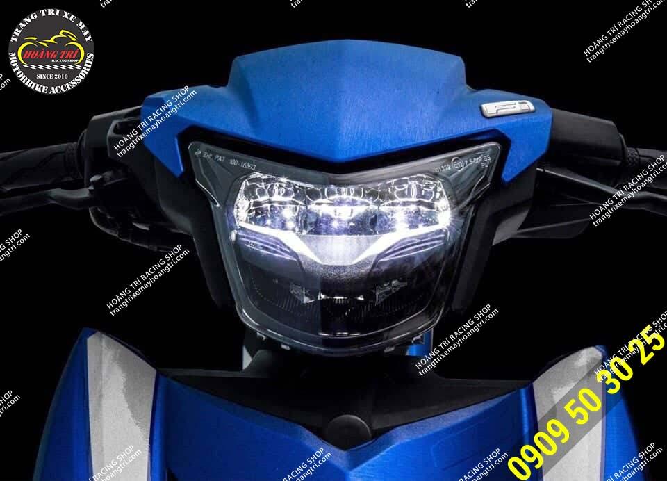 Xế cưng sau khi lắp đặt đèn LED 2 tầng Exciter 150 - Sporty 2019