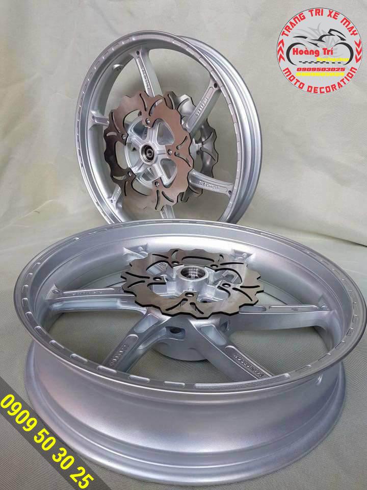 Mâm độ 2 đĩa trước màu bạc - màu được ưa chuộng