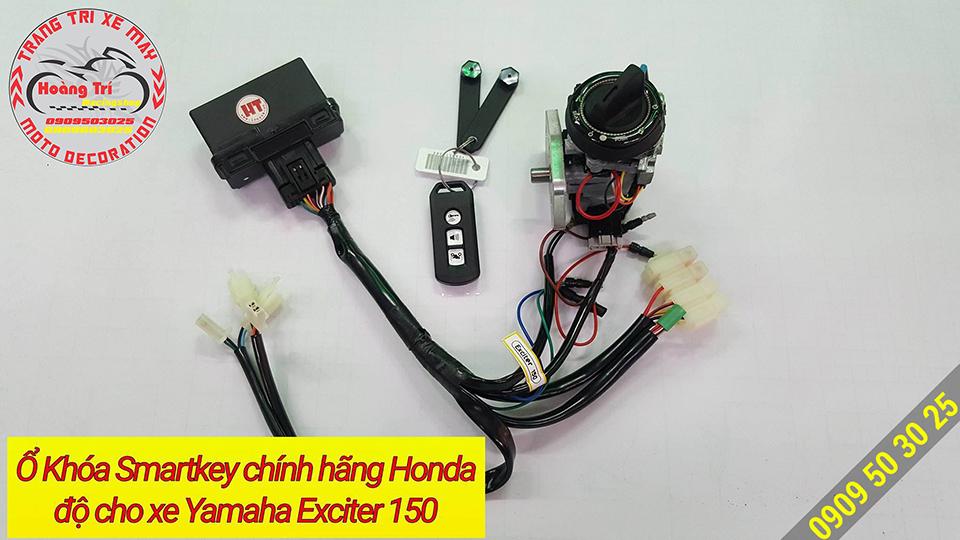 Các bộ phận của khóa smartkey Honda lắp cho Exciter 150