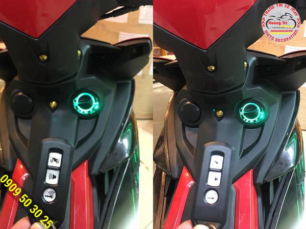 Trên tay điều khiển Smartkey và đèn led trên thiết bị cực đẹp
