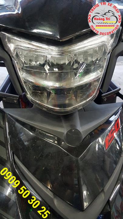 Cận cảnh cùm đèn led 2 tầng Exciter 150