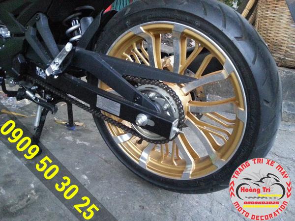 Mâm asio vàng cho Exciter 150